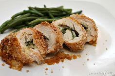 Persnickety Plates: Pepper Jack & Spinach Stuffed Cajun Chicken