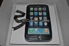 i phone cake - by CustomCakes @ CakesDecor.com - cake decorating website