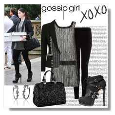 """Georgina sparks"" by manalabbas on Polyvore featuring MANGO, Parker, Nanette Lepore and Louis Vuitton"