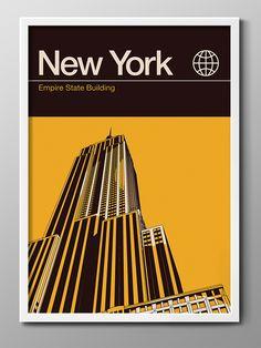 New York City Poster. Graphic Design. Art