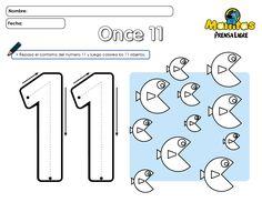 Resultado de imagen para colorear el numero 11