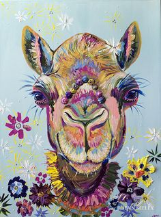 Bohemian Camel Only 75 prints will be printed in the 11 x 14 limited edition series. It comes signed and numbered. This is a high resolution print of my original acrylic painting. All images come with a white border for framing except the 4 x 6. The colors are vibrant and vivid and