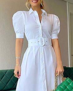 Dress Shirts For Women, Summer Dresses For Women, Dresses For Work, Clothes For Women, Trend Fashion, Fashion Outfits, Dress Break, Fiesta Outfit, Bridal Dress Design