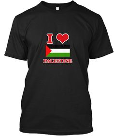 I Love Palestine Black T-Shirt Front - This is the perfect gift for someone who loves Palestine. Thank you for visiting my page (Related terms: I Heart Palestine,Palestine,Palestinian,Palestine Travel,I Love My Country,Palestine Flag, Palestine #Palestine, #Palestineshirts...)