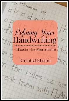 Refining Your Handwriting { - CreativLEI - Refining Your Handwriting { – CreativLEI When refining your handwriting it's important to go back to the beginning and practice the rules. We learn the rules, so we can break them with FLAIR! Hand Lettering Tutorial, Hand Lettering Fonts, Doodle Lettering, Creative Lettering, Handwritten Letters, Brush Lettering, Chalk Lettering, Lettering Ideas, Improve Your Handwriting