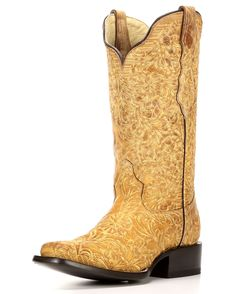 Corral | Women's Saddle Side Square Toe Boot - G1269 | Country Outfitter  http://www.countryoutfitter.com/womens-saddle-side-square-toe-boot---g1269/2556104.html?dwvar_2556104_color=Beige