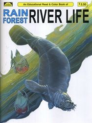 Rain Forest River Life - Coloring Book