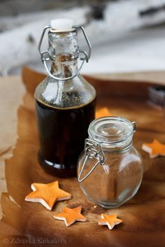 Ginger syrup and homemade gingerbread spice mix