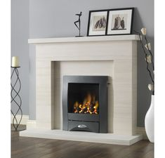 Excellent Pictures Electric Fireplace makeover Strategies Pureglow Drayton Limestone Fireplace Package With Chelsea HE Gas Fire Modern Room, Gas Fireplace Ideas Living Rooms, Front Room, Fake Fireplace, Small Fireplace, Fireplace Suites, New Homes, Modern Fireplace, Fireplace Makeover