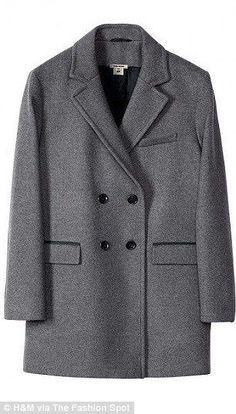 Isabel Marant H&M oversized grey wooll double coat Size UK12/EUR38/US8  BNWT #IsabelMarantforHM #BasicCoat