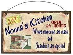 NONNAS Kitchen Where Memories are Made and by blackwatertradingco, $6.95