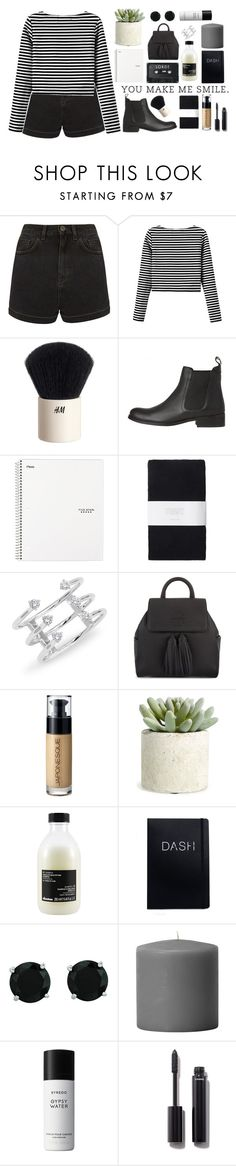 """mocktails and cocktails.."" by styledbypr ❤ liked on Polyvore featuring Topshop, H&M, Toast, Tory Burch, Japonesque, Allstate Floral, Davines, BillyTheTree, Byredo and Chanel"