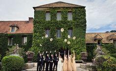 Destination wedding at Château de Villiers Le Mahieu just outside Paris #francewedding