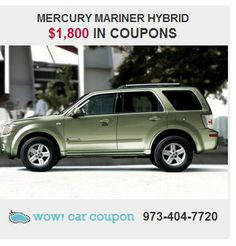 This outstanding #Mercury #Mariner #Hybrid  will always bring a smile to your face.. just a true pleasure to drive. It also #offers some #amazing #free #coupons!! For more info go to www.wowcarcoupon!! #wowcarcoupon #savings #njcars #save