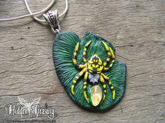Spider Pendant by Hidden-Treasury.deviantart.com on @deviantART