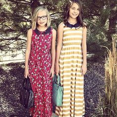 I'm working like a mad women to get everything restocked & back online. In the mean time did you know our Penny mini maxi dress comes in sizes 2T all the way up to 12 youth? How cute/beautiful are these sissies in the red floral & the mustard stripe with the black & white polka dot Peter Pan collar serious  for days! Thank you for the pic @orangeflare2602 #humstitchery
