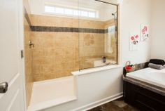 """The Claremont RB614A (Rockbridge Modular Home) features an amazing master bathroom - it is called the Serenity Bath and it will wow you! The """"serenity shower""""!"""