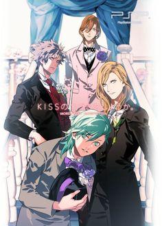 Characters: Mikaze Ai, Camus, Kurosaki Ranmaru, Kotobuki Reiji from Uta No Prince-sama