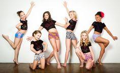 Top: Maddie Ziegler, Brooke Hyland, Paige Hyland, and Nia Frazier Bottom: MacKenzie Ziegler and Chloe Lukasiak