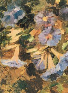"""""""Suspiros"""" Juan Francisco González. Óleo sobre tela (40,5x31,5). Sus obras, normalmente de formato pequeño, son inconfundibles. Sus trazos, pinceladas y espesor de las pastas reflejan su pasión por la pintura, a la que amó por sobre todas las cosas. Fue un gran maestro y su conocimiento y personalidad fascinante, se irradió a generaciones artísticas que lo sucedieron."""
