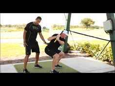 TRX Rip Trainer Backswing Squat with Golf Pros Trevor Anderson and Tim Burke - YouTube