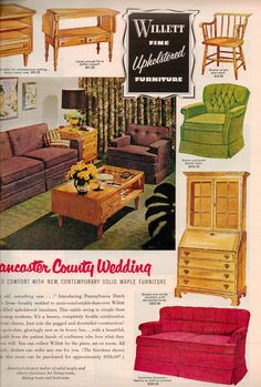 Modern Furniture Ads furniture sofas chairs stuffed wicker 1920s vintage antique wards