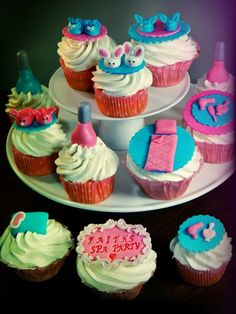 Sleep Over Theme Cupcakes
