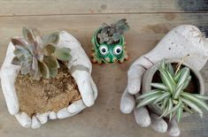 Manualidades con cemento para jardin: Macetas | Manualidades y Reciclados