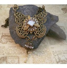 Aether Steam Propelled Butterfly Necklace & Earring Set