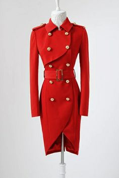 Double Breasted Bound Waist Belted Trench Coat
