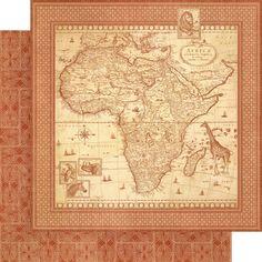 Graphic 45 - Safari Adventure - 12 x 12 Scrapbook Paper Journey Of A Lifetime now available at The Rubber Buggy Dark Color Palette, Dark Colors, Safari Crafts, 12x12 Scrapbook Paper, Scrapbooking, Travel Album, Safari Adventure, African Safari, Graphic 45