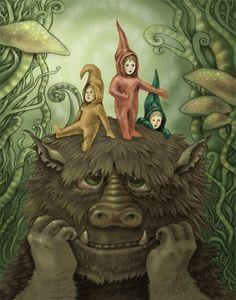 Furry Monster Art Fairy Kids Fantasy Print by whimsicalFantasy, $15.00