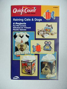 Raining Cats & Dogs Plastic Canvas Projects by TheSandlapperShop