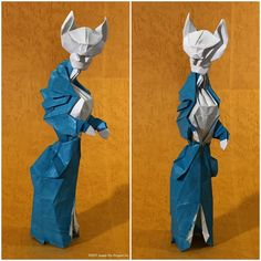 """""""Lady Emma Cattington"""". This started as a study for Louise the companion of Baron Humbert von Gikkingen but it changed direction partway. by Joseph Wu Origami"""