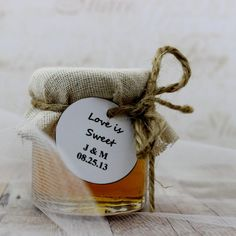 SET OF 12 Rustic raw honey wedding favors honey by EcohausProject, $33.00