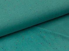 Angerauter Sweat - Cosy Colors - türkis