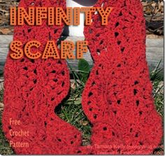 Free crochet pattern to make a versatile infinity scarf (which can also be worn as a snood).