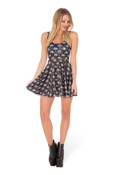 Eye See You Scoop Skater Dress (WW 48HR $85AUD / US - LIMITED $80USD) by Black Milk Clothing
