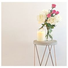 • KMART HACK •  #regram from @justanotherwifeslife featuring the Kmart plant stand which has been altered into a side table with the addition of a concrete top! (Plus beaker candle!) #kmartaddictsunite #interiorstyling #interiordesign #interiordecorating #style #styling #decor #design #interior #plantstand #concrete