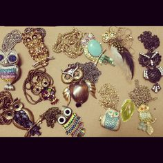Owl necklaces collection