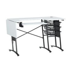 Enjoy exclusive for Master Machine Sewing Table Sew Ready online - Tthotnew Cube Storage, Craft Storage, Bambi, Double Desk, White Charcoal, Charcoal Color, Sewing Cabinet, Solid Wood Coffee Table, School Furniture
