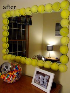 Ok this tennis ball mirror is awesome!  :-)