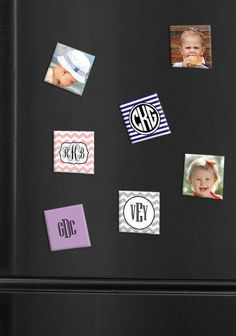 Custom 2x2 Photo Magnets - Bundle of 4 or 9 | Put your favorite familiar faces up where you can see them every day with these cool little custom photo magnets.