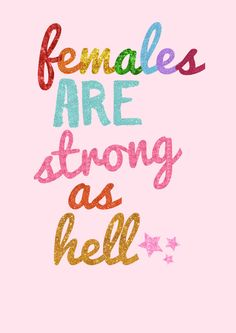 Females Are Strong As Hell Wall Art Print Kimmy by RoryandTheBean