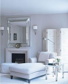 Living Room in London Townhouse by Timothy Whealon Inc. Mirror Over Fireplace, Fireplace Mantle, Modern Fireplace, Mantel Styling, Best Neutral Paint Colors, Bleu Pale, London Townhouse, Transitional Bedroom, Just Dream
