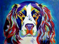 Springer Spaniel - Cassie Painting by Alicia VanNoy Call - Springer Spaniel - Cassie Fine Art Prints and Posters for Sale