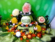 Melon Carving Display by Yolanda Diaz