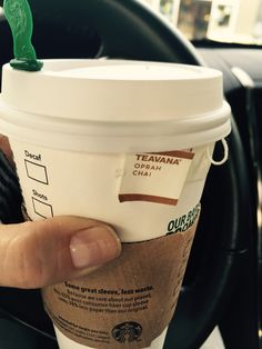 Oprah chai tea brewed with steamed milk, add an extra shot for a boost. No sugar, no guilt! ☺️