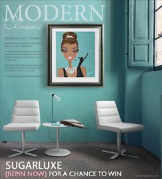 REPIN TO WIN -> Breakfast at Tiffany's 11x15 Signed Pop Art Print by Sugarluxe -- #giveaway #contest #win  http://www.sugarluxe.com/breakfast-tiffanys-audrey-hepburn-hollywood-wall-art-decor-pop-art-print-poster.html
