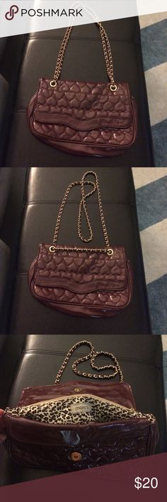 Marc b handbag A great going out bag - large enough to fit a small wallet and everything you need for a night out. Maroon patent leather. Adjustable strap so you can wear crossbody or short. From Top Shop. Bags Crossbody Bags